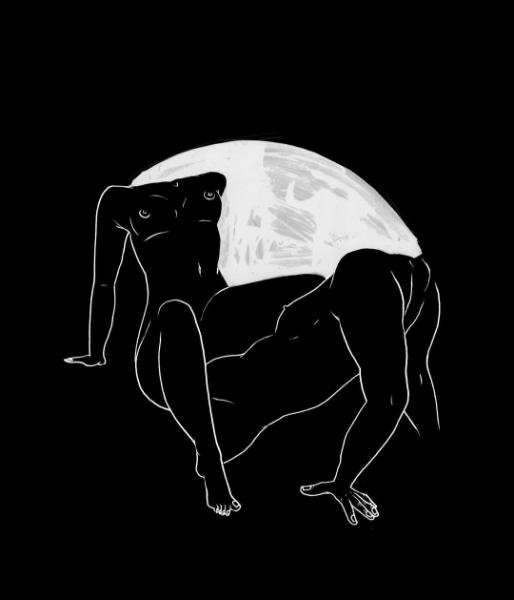 ilustraciones de fantasias cuerpos luna