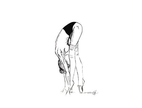 ilustraciones para tatuajes bailarina