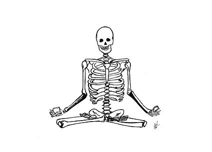ilustraciones para tatuajes esqueleto