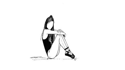 ilustraciones para tatuajes sentada