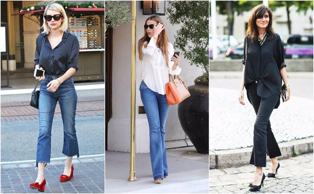 jeans acampanados blouse