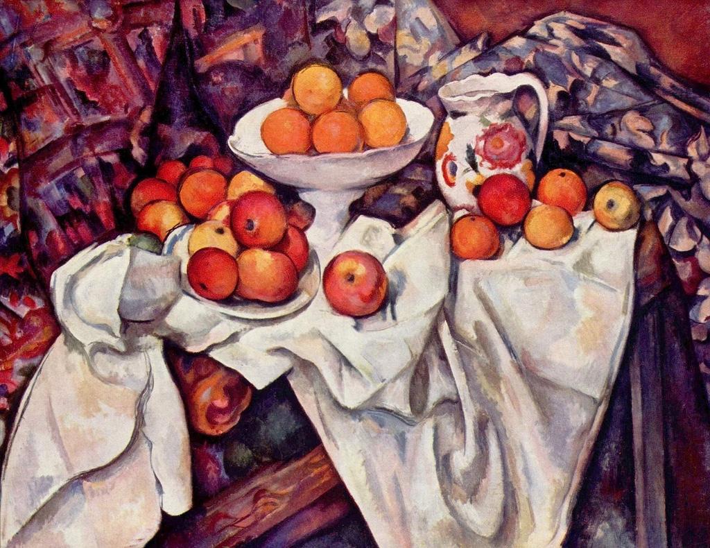 manzanas y naranjas pinturas que te inspira