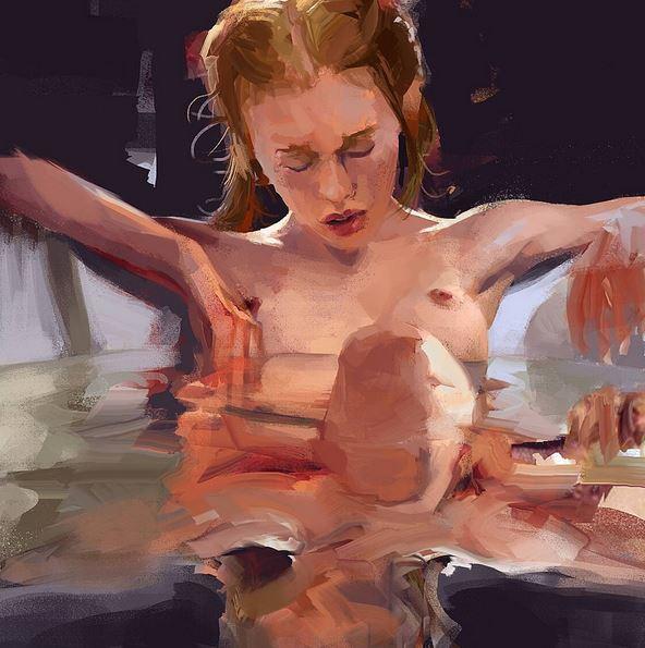 paintings nudity eroticism bathtub
