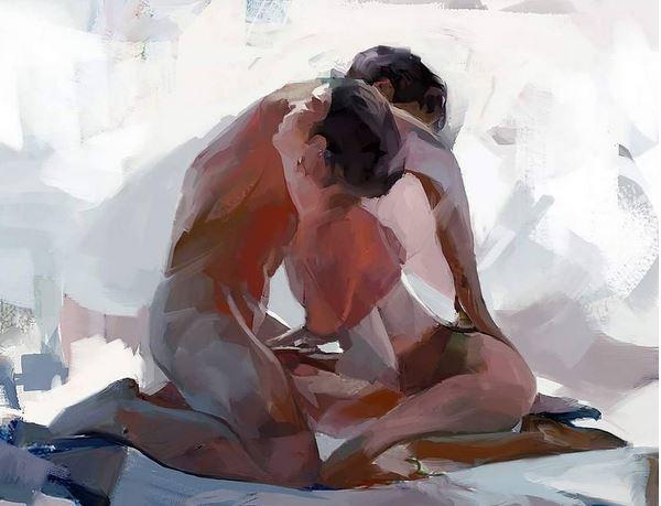 paintings nudity eroticism palette
