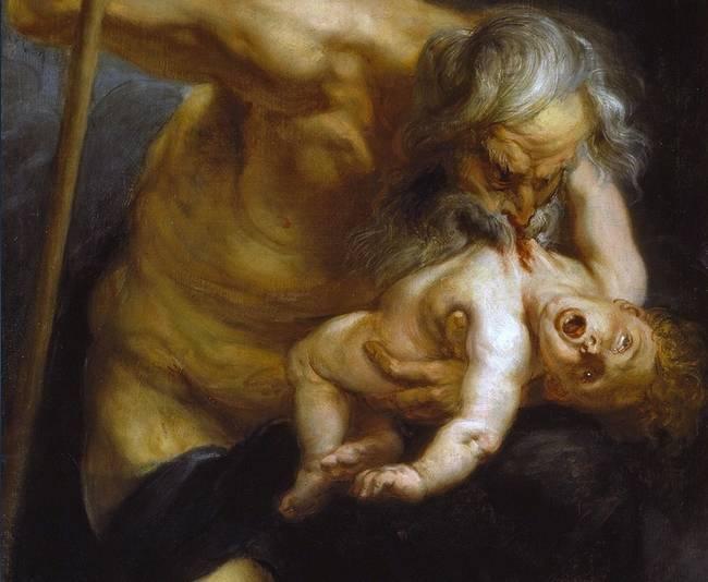 pinturas estrañas y horribles saturno