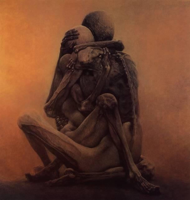 pinturas extrañas y horribles esqueletos