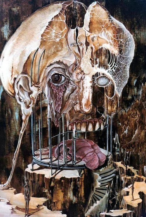 pinturas extrañas y horribles pesadilla mente