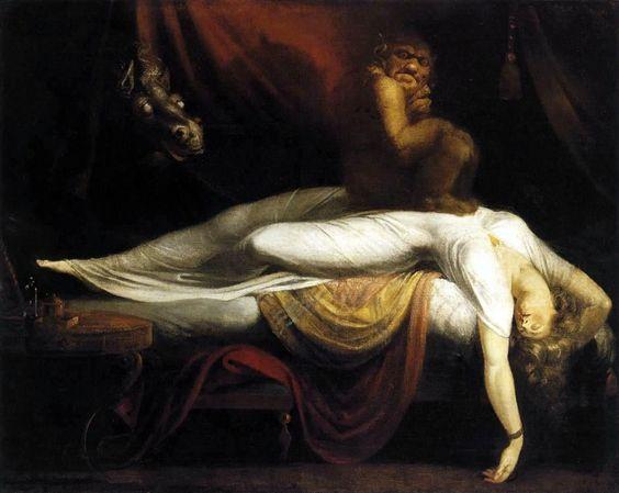 pinturas extrañas y horribles pesadilla
