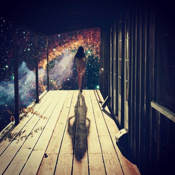 poema collage galaxia