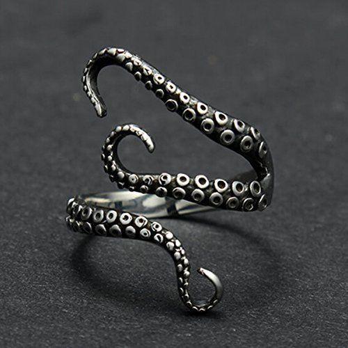 pulpo moda con anillos