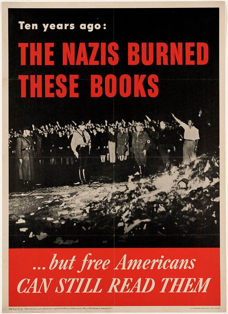 quema de libros poster