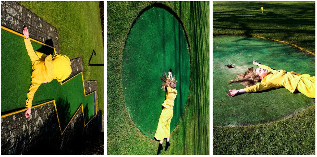 retratos de una mujer real campo golf