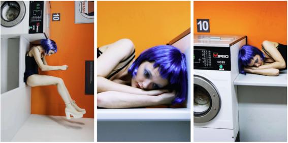 retratos de una mujer real lavadora