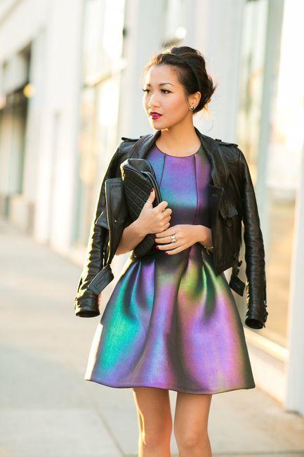 ropa oscura tendencia holografica