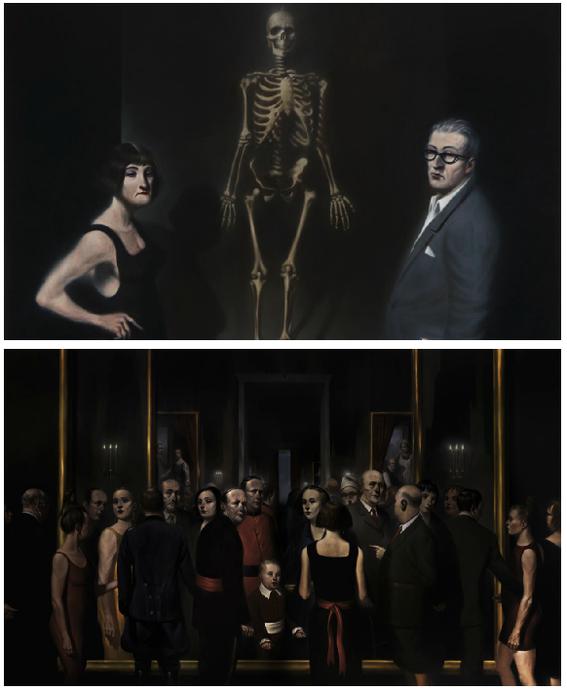 scary paintings dark