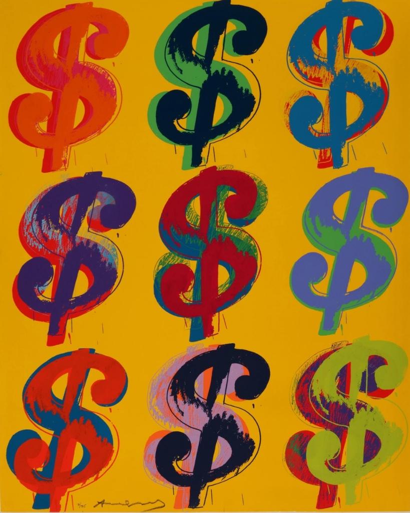 signo de dolar de andy warhol