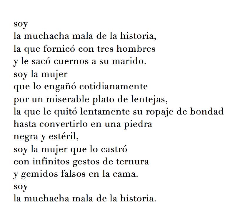 poemas de mujeres latinoamericanas mala