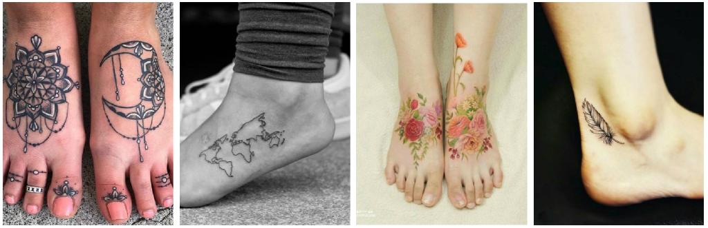tatuajes en los pies color