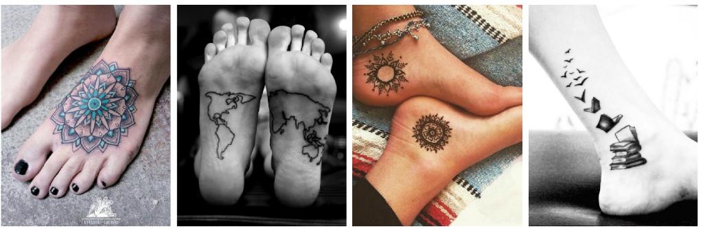 tatuajes en los pies lunas