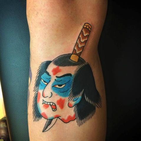 tatuajes japoneses cuchillo