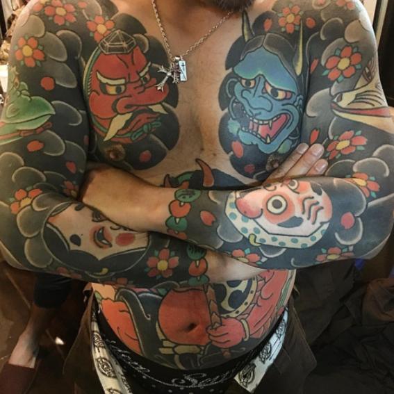tatuajes japoneses pecho