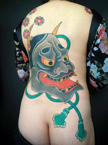 tatuajes japoneses risa