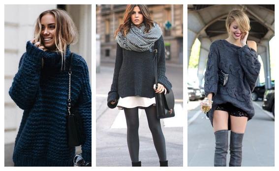 tendencias de moda 2017 sueter oversize
