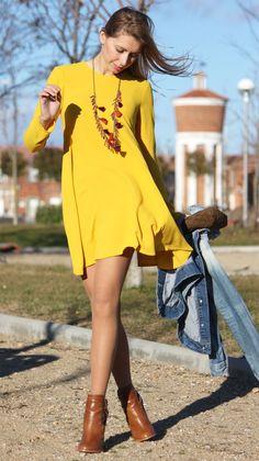 vestido amarillo ropa con estilo para mujeres