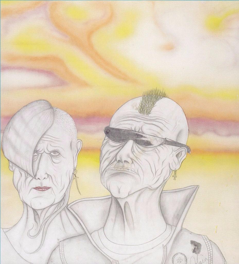 visual art kurt cobain sketches portrait