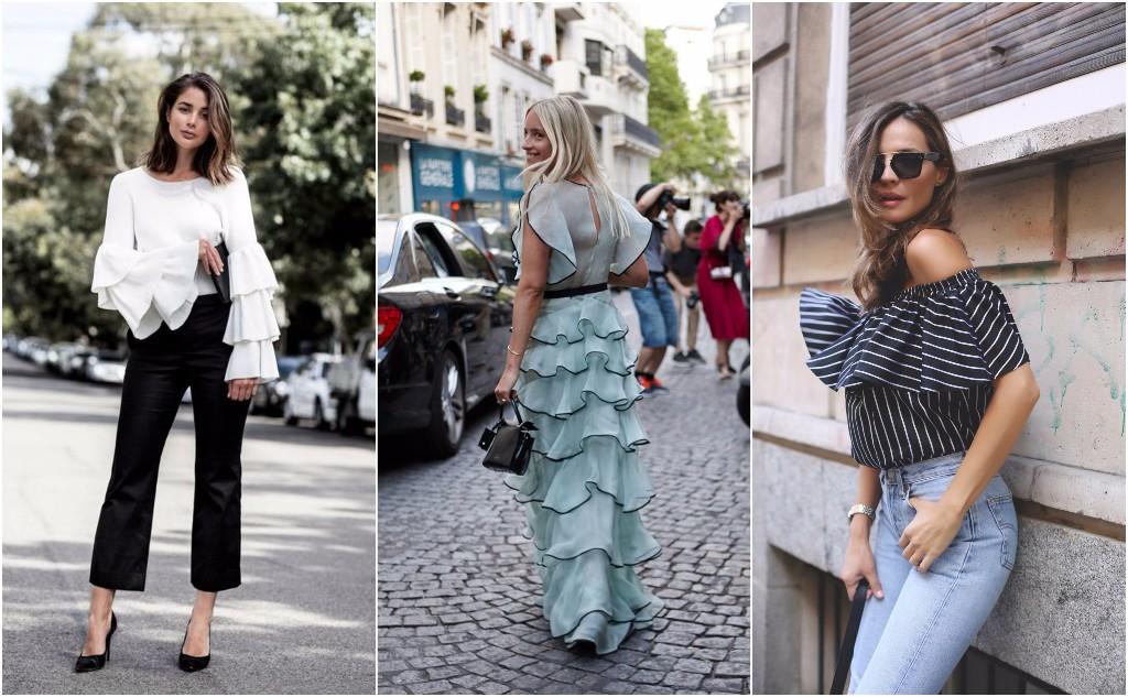 Prendas fashionistas street style  volantes