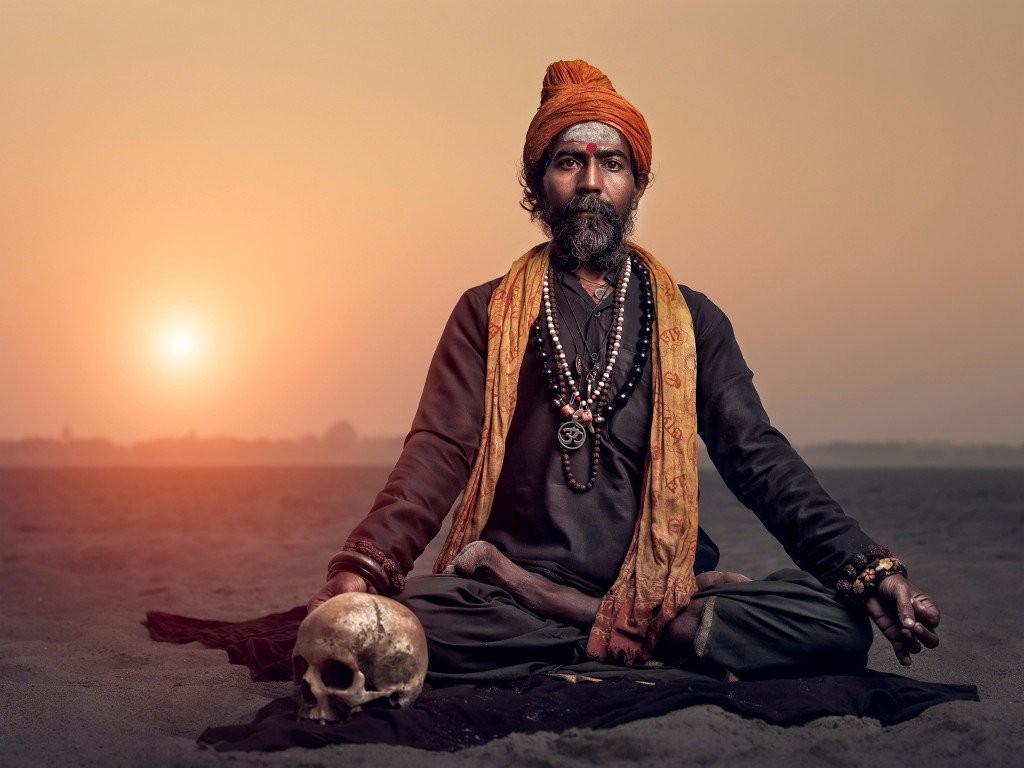 Sadhu Holy Man Sun