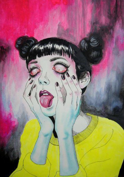 Sensual Melancholy Girls Blank Stare-w636-h600
