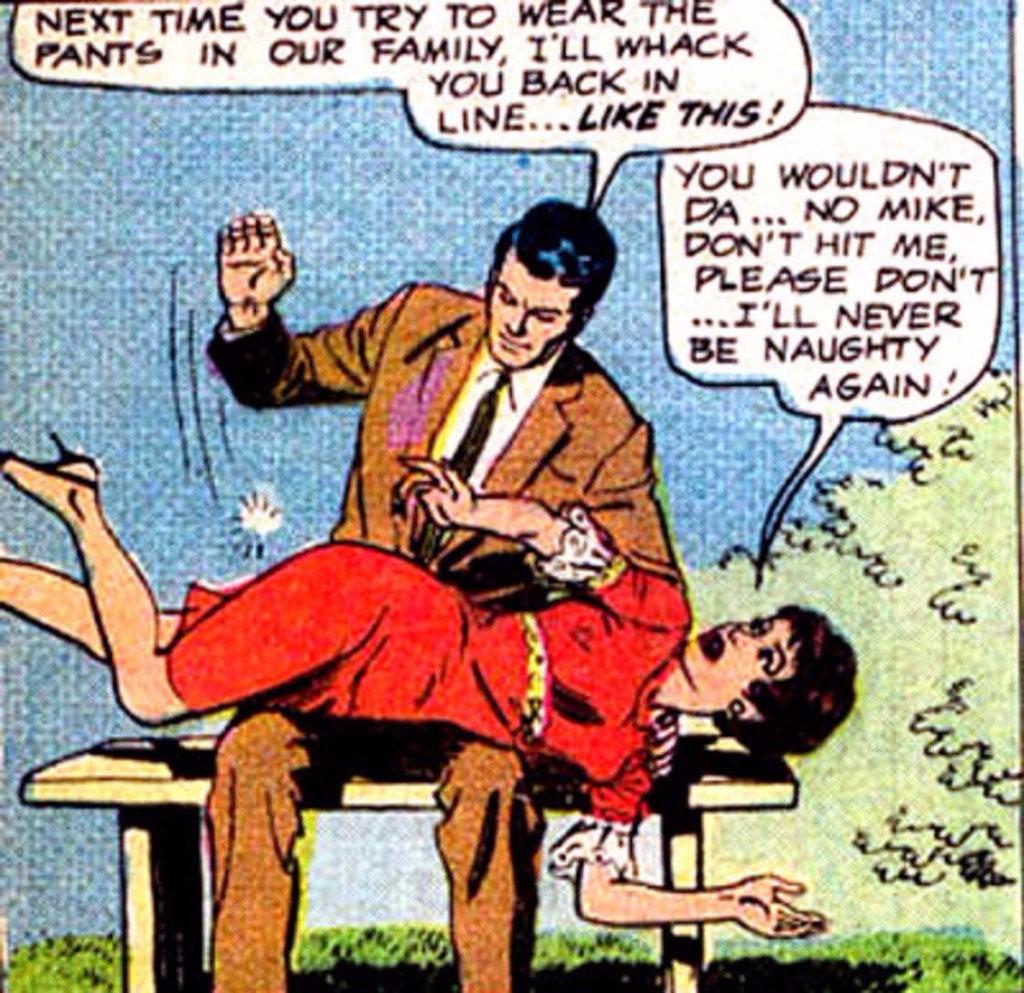 Sexist Batman Comics Red Dress