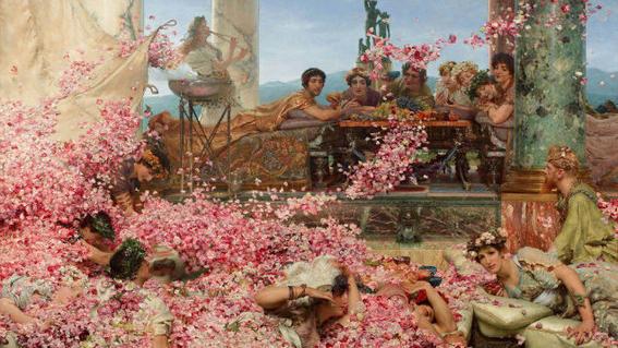 Sir Lawrence Alma-Tadema Heliogabalus roman emperor painting-w636-h600