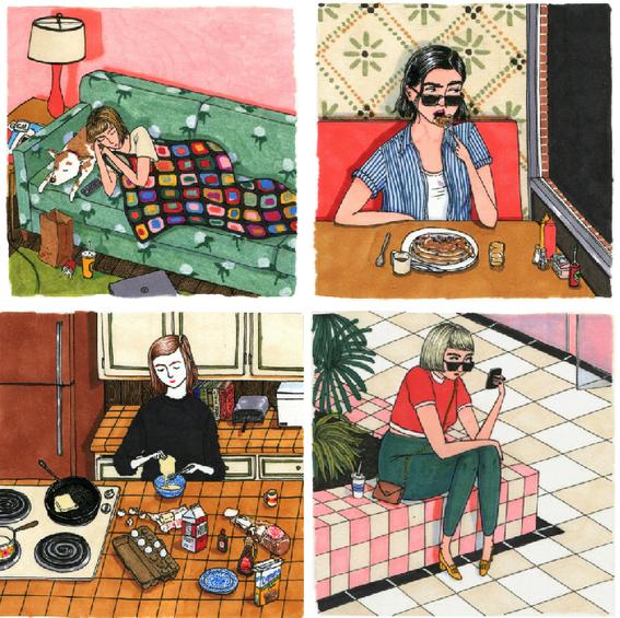 beautifully imperfect women illustrations 4