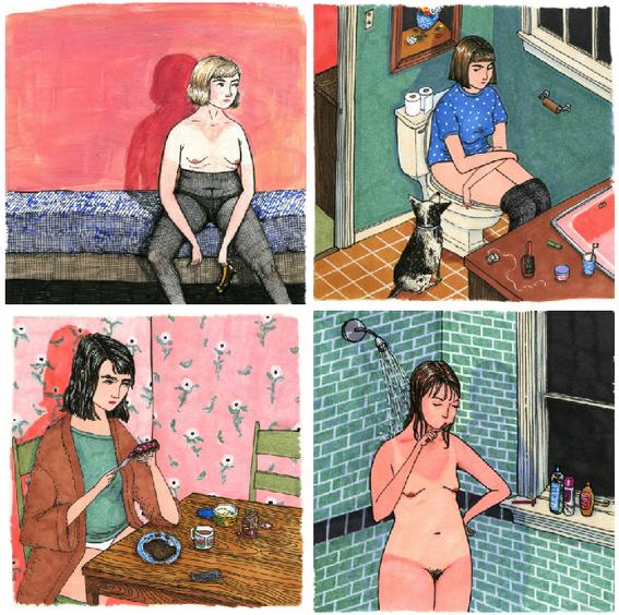beautifully imperfect women illustrations 1