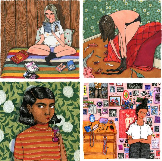 beautifully imperfect women illustrations