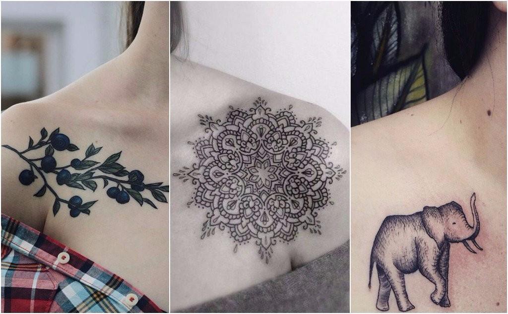collarbone runway model tattoos