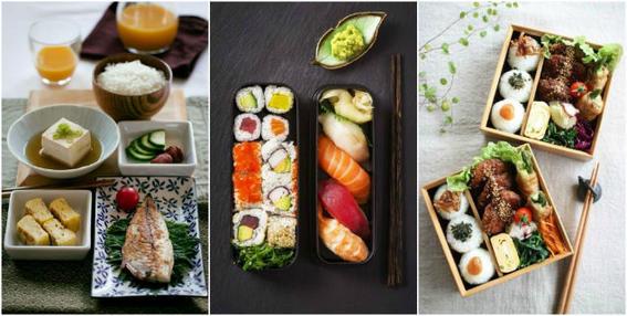 comida japonesa porciones