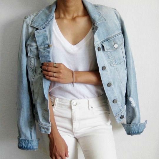 como usar jeans con estilo blanco flores