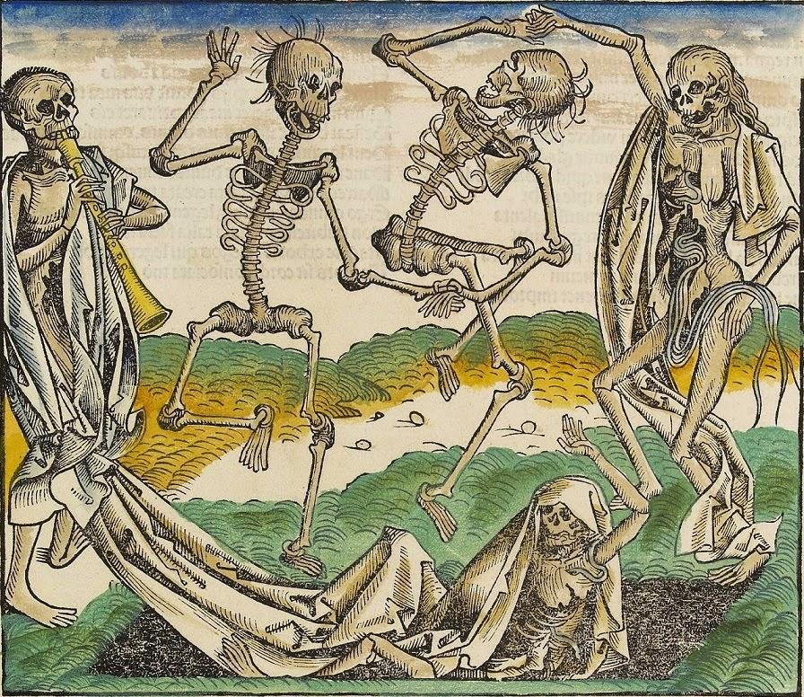 danza de la muerte calaveras en el arte