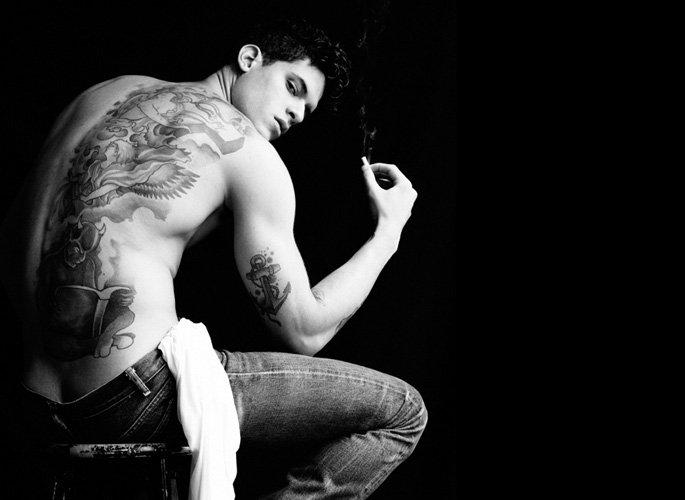 diego fragoso runway model tattoos