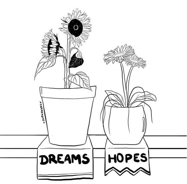dreams ilustraciones de amor
