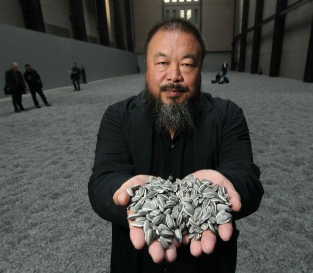 Ai Weiwei semillas de girasol