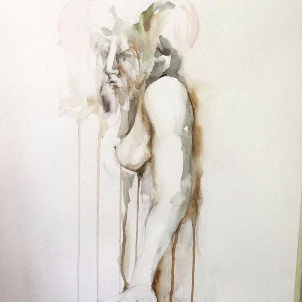 erotic paintings darkness misery desire merino faded