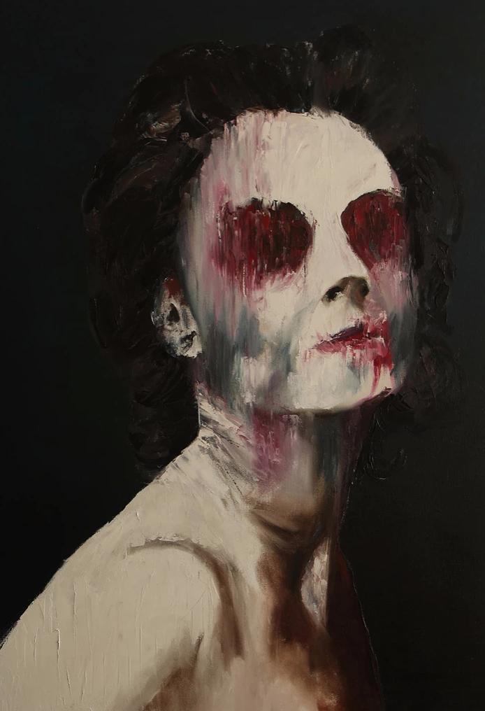 erotic paintings darkness misery desire merino no eyes