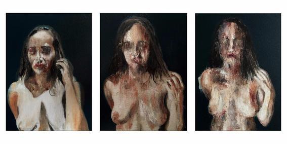 erotic paintings darkness misery desire merino three