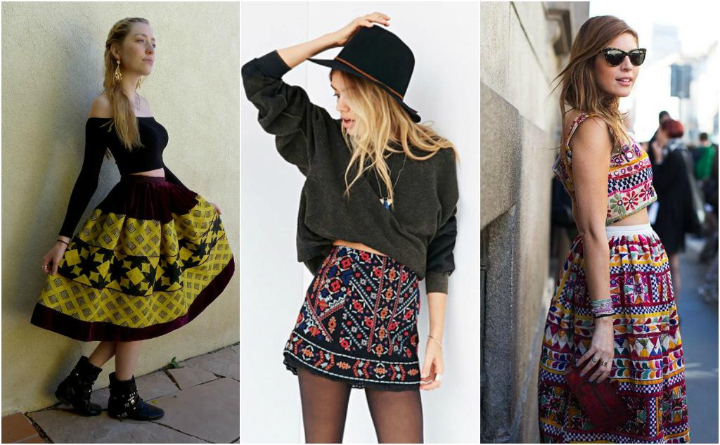 faldas bordadas moda mexicana