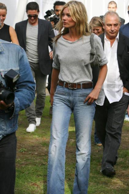 formas de usar jeans  Kate Moss