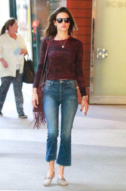 formas de usar jeans  alessandra ambrosio